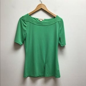Banana Republic Green Top w/ Cut Out in Back S